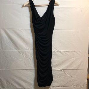 Black scrunch side dress.